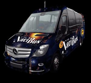 Minibus de la Navidad